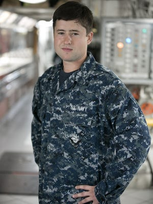 Seaman Logan Brewer, a 2011 Wapahani High School graduate, is serving on the U.S. Navy aircraft carrier USS Ronald Reagan.