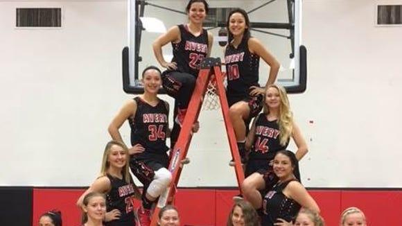The Avery County girls basketball team.