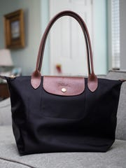 "Stylemaker Gray Middleton loves to sport her black Longchamp ""Large Le Pliage"" Tote when going out on the town."