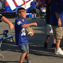 D.J. Pellegrino of Toms River attended his first NFL game on Saturday.