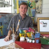 Cade Slaughter, a senior at Sacred Heart High School, is collecting art supplies for area schools.