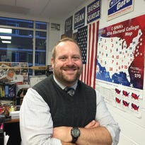 """A self-described """"policy wonk,"""" Ryan Werenka of Troy High School says this election has been the most challenging of his career to teach."""