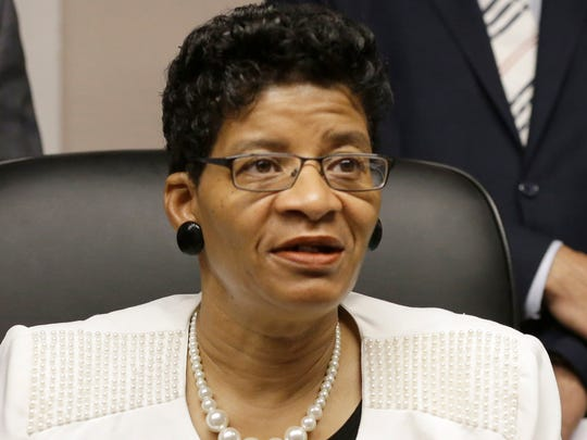 Geneva Reed-Veal, mother of Sandra Bland speaks at a news conference Tuesday, Aug. 4, 2015, in Houston.