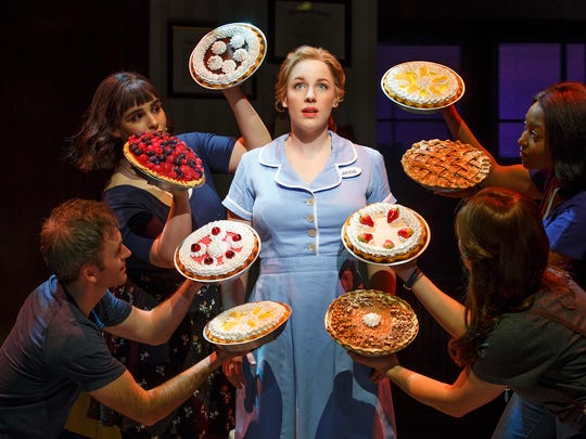 Jessie Mueller and cast in Waitress.