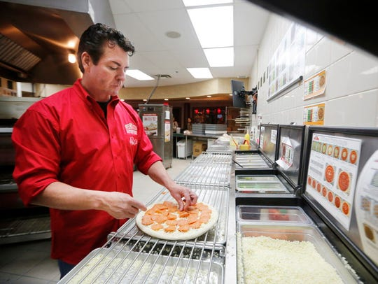 John Schnatter, founder of Papa John's Pizza makes