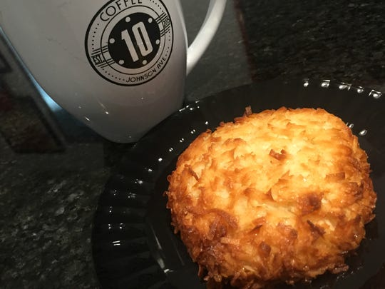 Coconut macaroons and all the other sweets are gluten-free at 10 Johnson Avenue coffee shop.