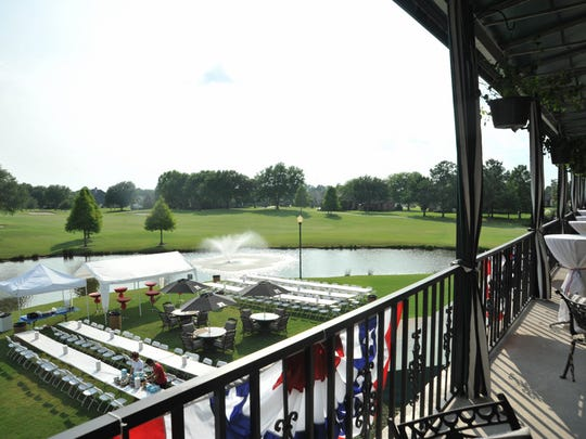 The view from the deck of the Le Triomphe Golf & Country