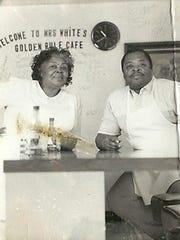 Restaurateur Elizabeth White with grandson Larry White