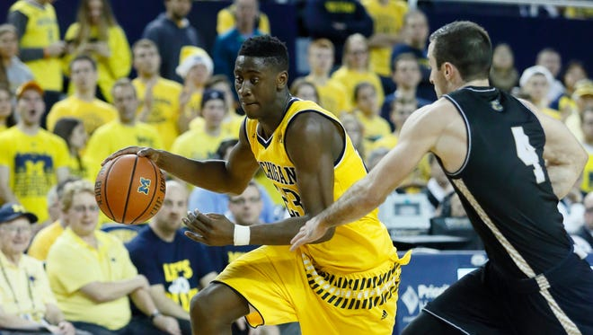 Michigan's  Caris LeVert  increased his practice time on Wednesday.