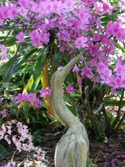 Nature themed art by local artists will line walkways for guests and a special reception honoring the gardens' founders at an anniversary celebration Oct. 16