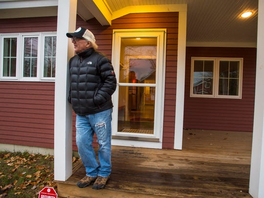 Allan Nichols at the South Burlington home he moved