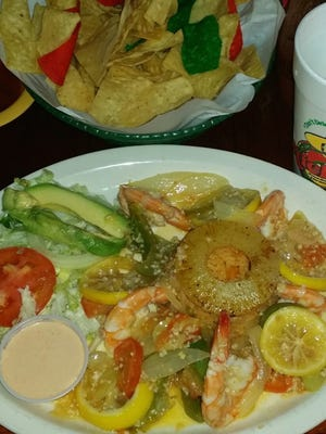 Camarones at Nicky's Mexican Restaurant.