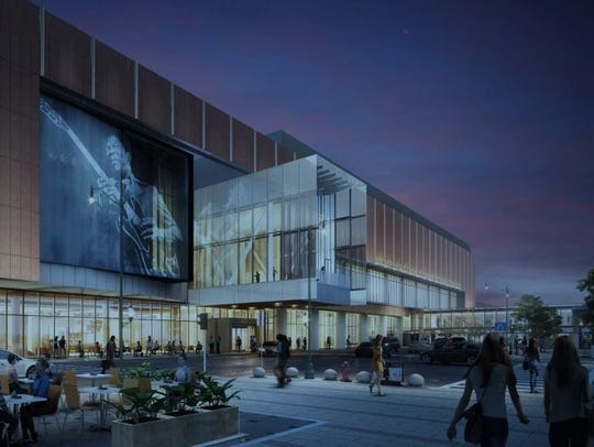 Rendering by LRK/TVS architects shows Main Street facade
