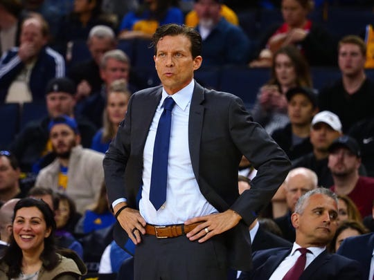 Utah Jazz head coach Quin Snyder on the sideline during