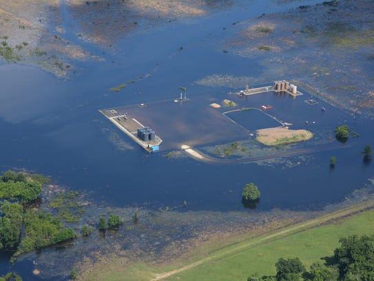 One of the apparent spills photographed by the Texas