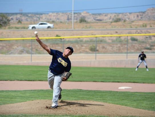 Joshua Issac of the Carolina Vaqueros fires a pitch