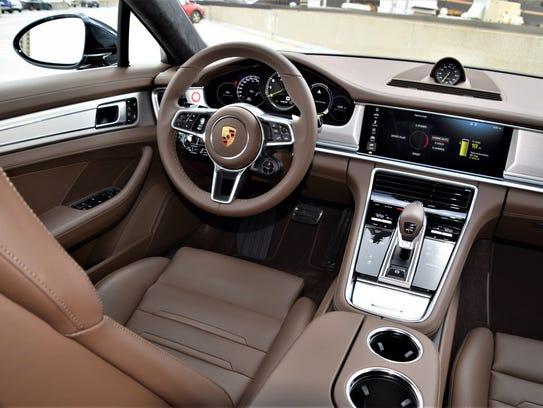 Porsche Panamera cockpit from center.