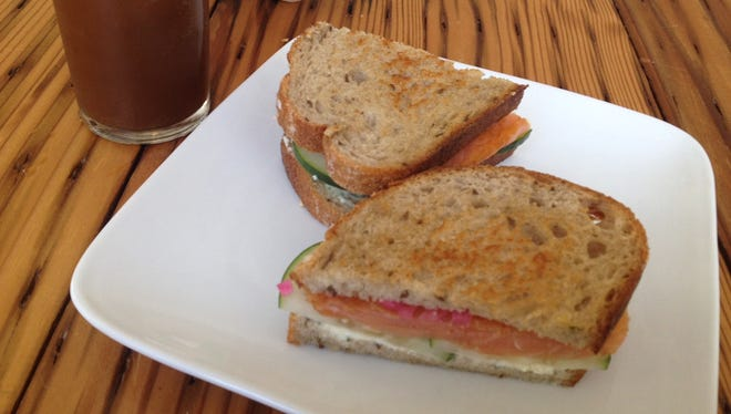 The smoked salmon sandwich at Cheapside Cafe, Downtown