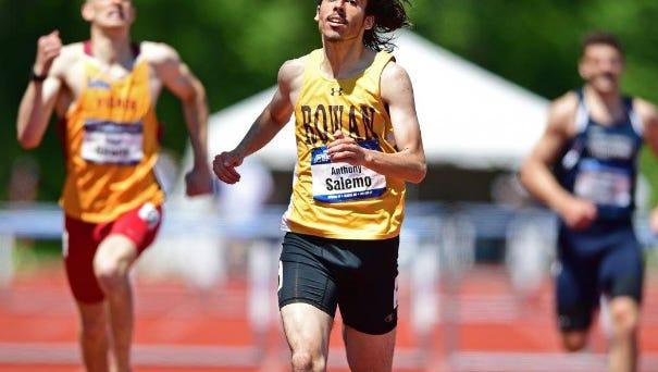 Ramsey's Anthony Salemo won the Division III 400-meter intermediate hurdles title for Rowan.