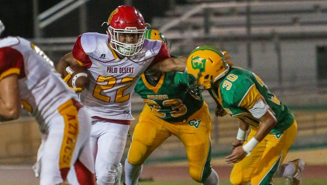 Palm Desert's Manny Sepulveda finds an opening against Coachella Valley on Friday.