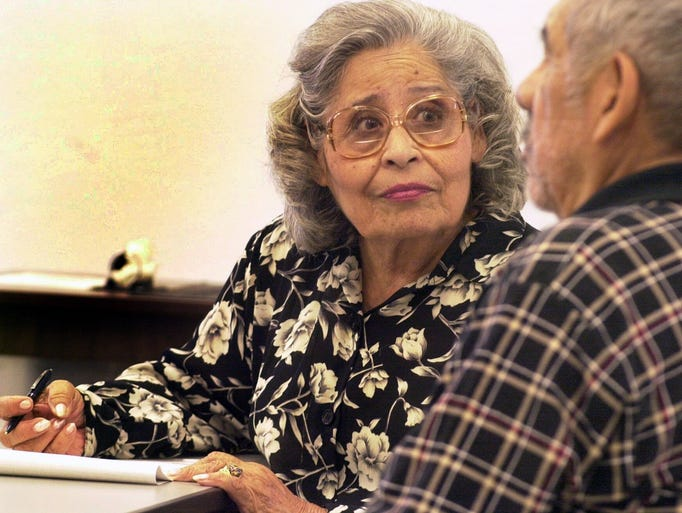 Terri Cruz in 2000 at the Marcos de Niza senior center