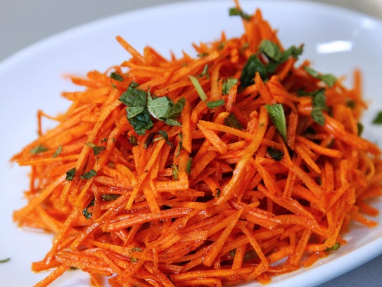 Crunchy Moroccan Carrot Salad can be made ahead.