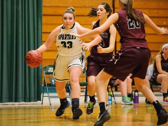 Amna Cicak (33) is a key frontcourt player for the Winooski girls basketball team.
