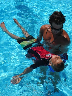 The Cocoa Beach Aquatic Center teaches swimming lessons throughout the summer.