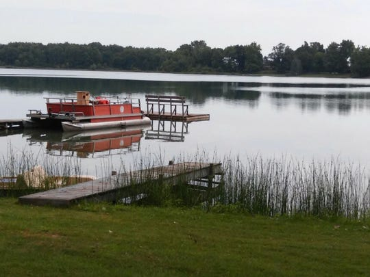 A pontoon boat is just one of several boats the Eichers fished from during their vacation week.