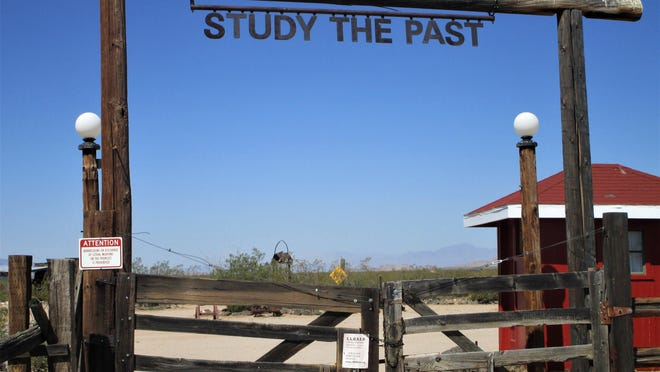 The entrance to the Mojave Desert Heritage and Cultural Association in Goffs (and a great idea).