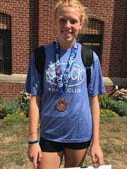 Allison Arnett of Dixie Heights with her AAU national