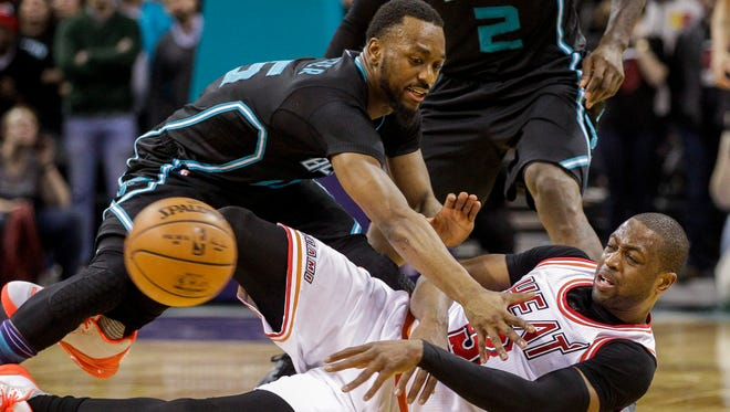 Miami Heat guard Dwyane Wade and Charlotte Hornets guard Kemba Walker will battle it out in the first round of the Eastern Conference playoffs.