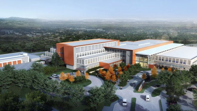 Major construction on Fort Leonard Wood's replacement hospital is set to begin this summer, with expected occupancy of the new facility in autumn 2024. Courtesy illustration