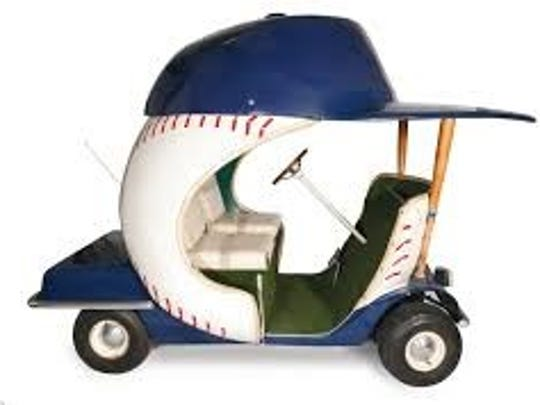 An example of what a bullpen cart could look like for a team like the Yankees.
