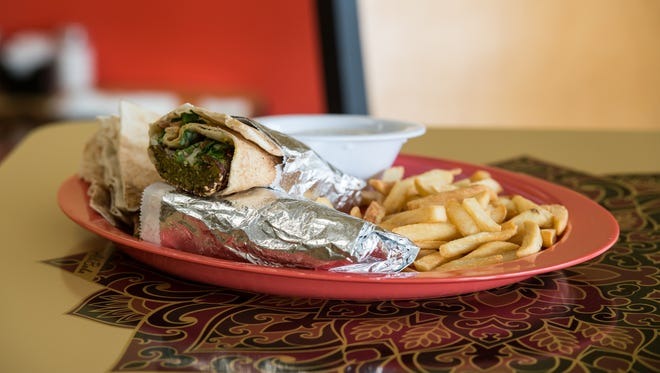 A view of the falafel at Ali Baba Mediterranean restaurant on Snow Hill Road.