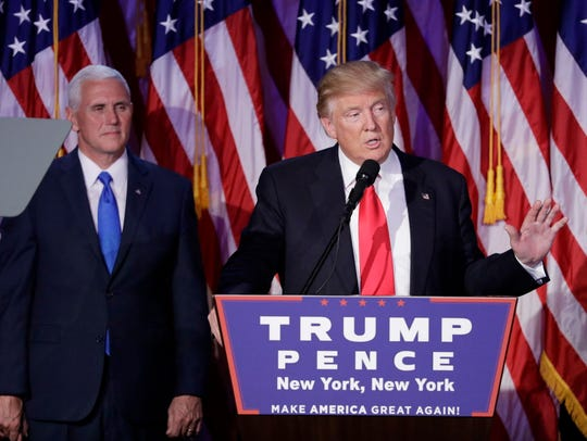 President-elect Donald Trump gives his acceptance speech