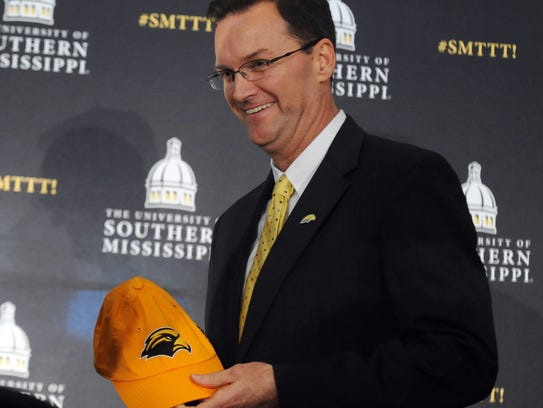 One of Southern Miss athletic director Jon Gilbert's