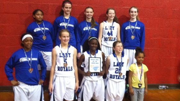The WNC Lady Royals seventh grade basketball team.