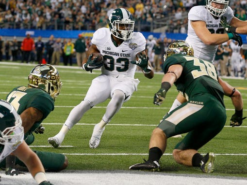 Michigan State Spartans running back Jeremy Langford