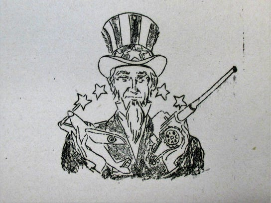 6. Uncle Sam sketch in Chips magazine