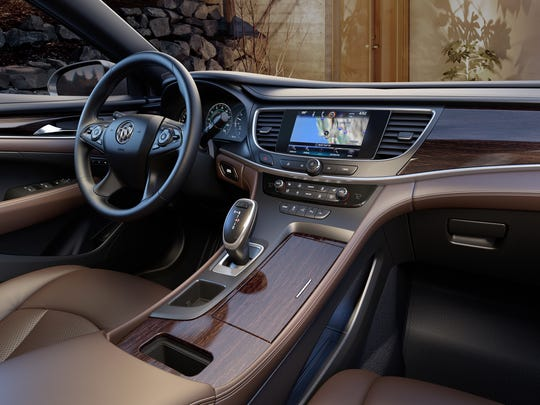 The All–new 2017 Buick LaCrosse center console.
