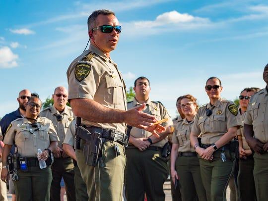 Sheriff Mark Garber and Deputies walk Marigny Circle