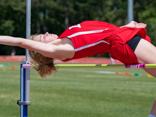 Lafayette Christians Jordan Lavergne competes at the LHSAA 1A Regional Meet at UL Track Complex. Tuesday, April 24, 2018.