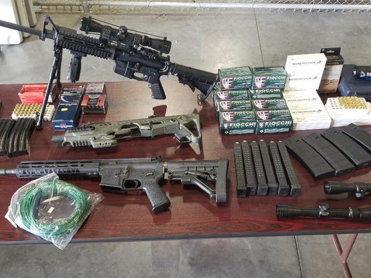 Lee County Sheriff's Office detectives raided the Lehigh Acres home of a convicted felon and found this stockpile.