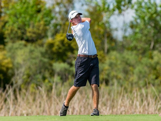 Matt Weber, shown during the 2018 Lafayette City Golf Championships, won an individual title Tuesday in the Allstate Sugar Bowl LHSAA State Championships.