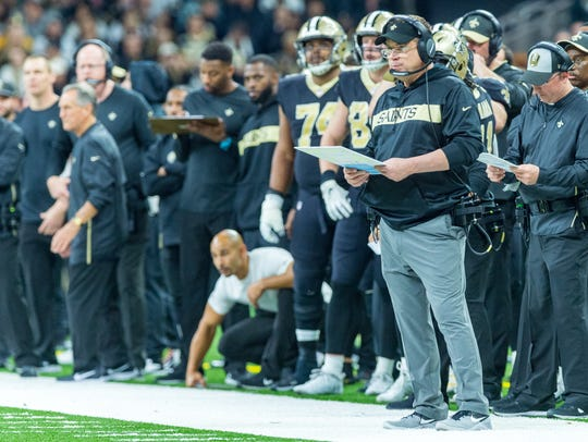 "Saints coach Sean Payton made a ""gutsy"" call on 4th-and-one to fake a punt. Backup QB Taysom Hill got the first down, shifting the momentum after a slow start against the Philadelphia Eagles on Sunday in the NFC divisional playoff game in New Orleans."