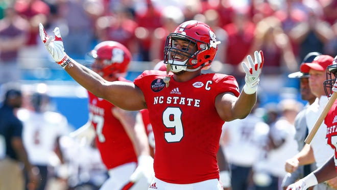 Most draft analysts predict Bradley Chubb to the Colts at No. 3.