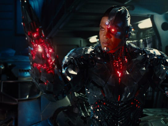 "Ray Fisher as Cyborg in ""Justice League."""
