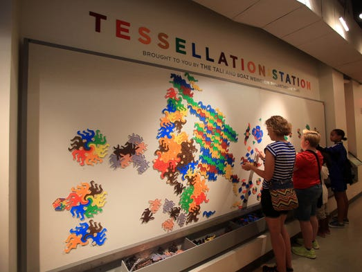 The National Museum of Mathematics features 40 interactive exhibits that aim to excite math whizzes and engage others in Manhattan Aug. 9, 2014.