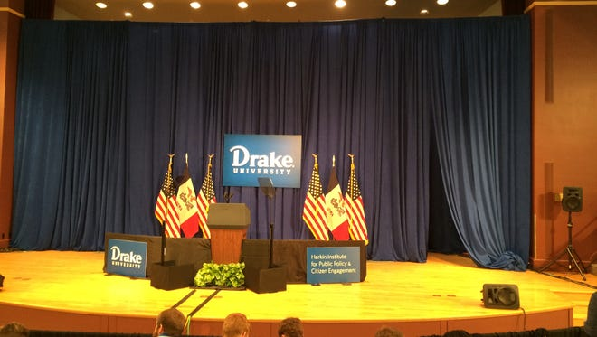 The Harkin Institute for Public Policy and Citizen Engagement was featured prominently at Vice President Joe Biden's event at Drake University